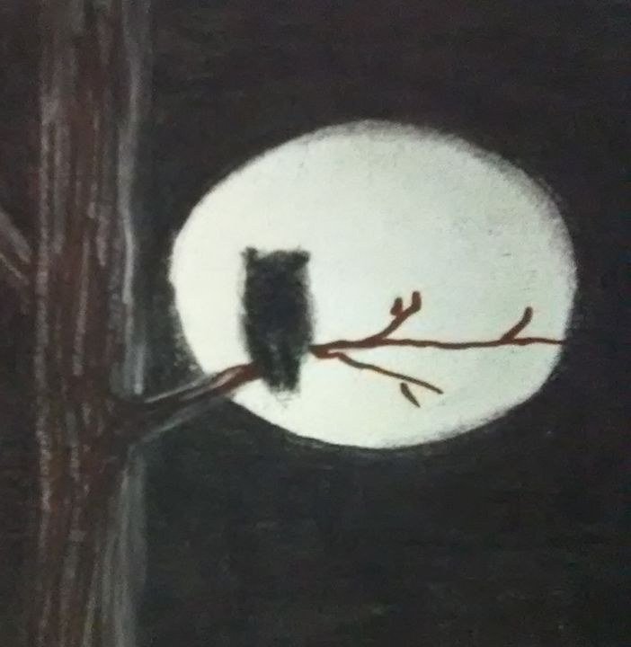 Owl at night - ART