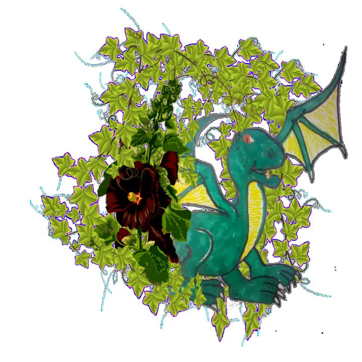 Dragon in the vines - ART