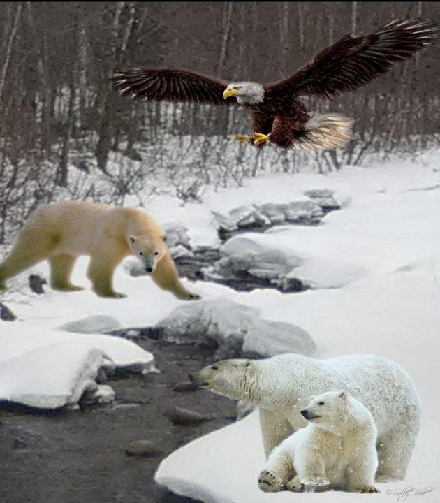 Polar bears at # Six - ART