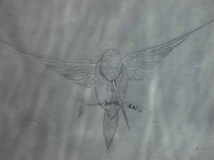 a hummingbird - ART