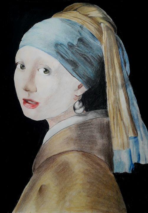 Reprise de la jeune fille à la perle - Sarah DRUESNE