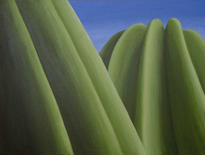 Saguaro Crowns - Paintings by Nintzel