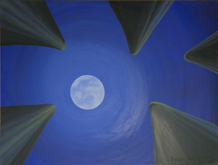 Saguaro moon - Paintings by Nintzel