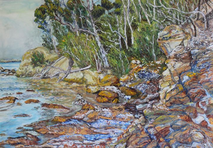 Rocks at Bateman's Bay NSW - Landscapes by Adrian