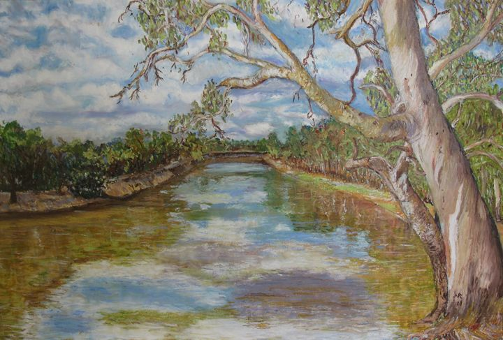 Murray River Scene - Landscapes by Adrian