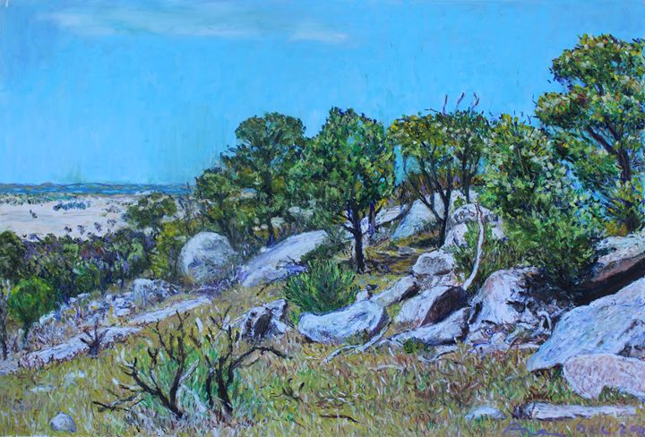 A Giant Sleeps in the You Yangs on - Landscapes by Adrian