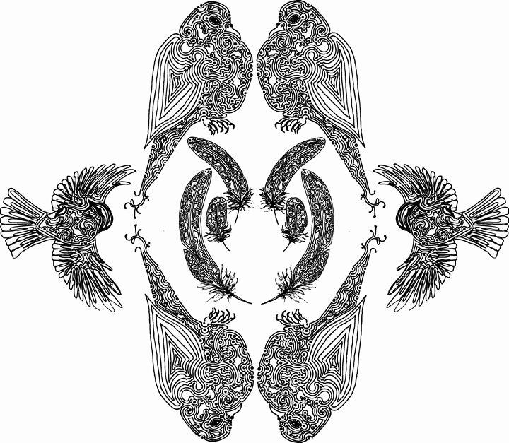 British garden bird's. - Nel Designs