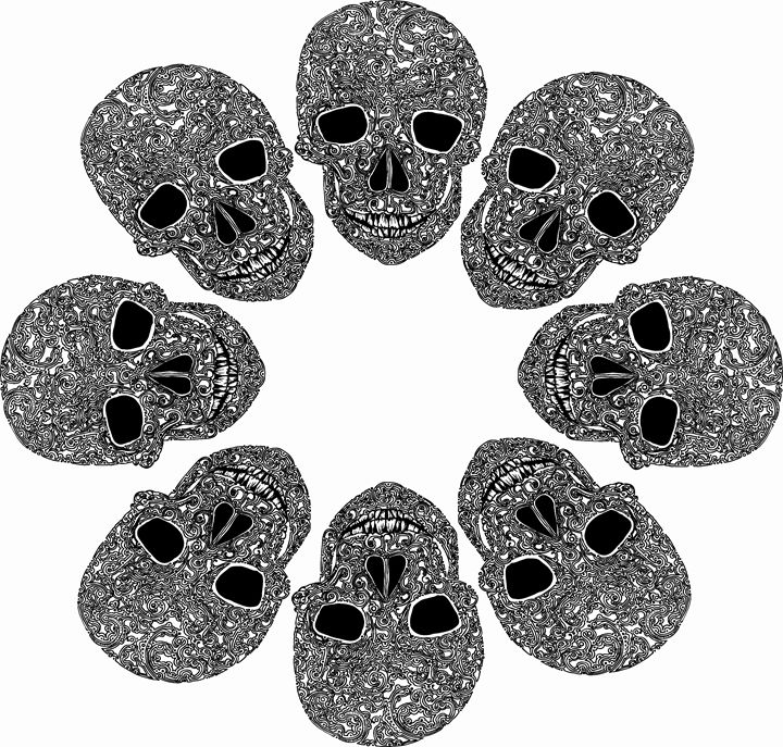 Skull Circle. - Nel Designs