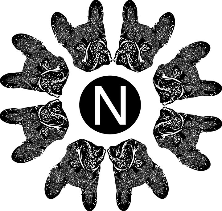 French bulldog with Nel logo - Nel Designs