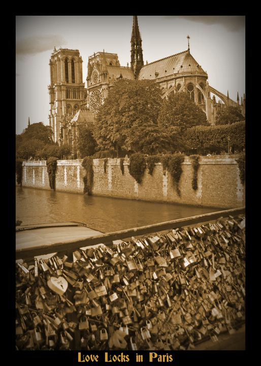 Paris Love Locks - Funky Fine Art