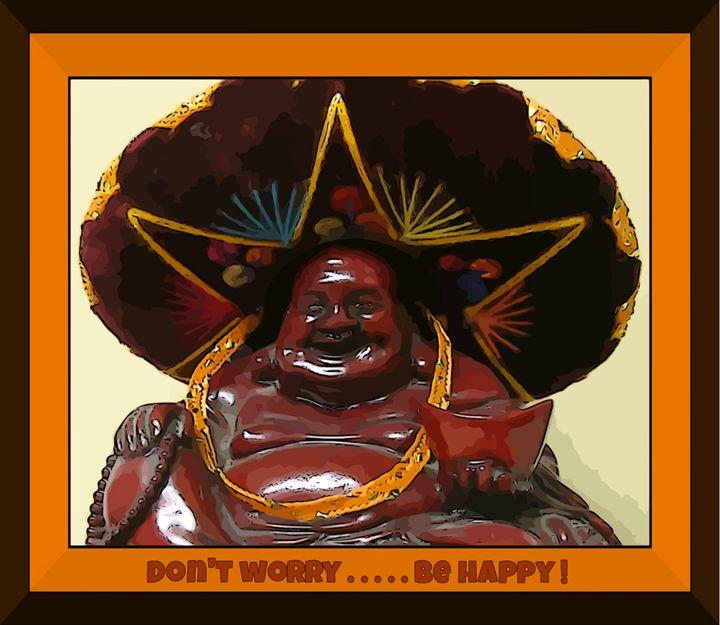 Happy Budda - Funky Fine Art