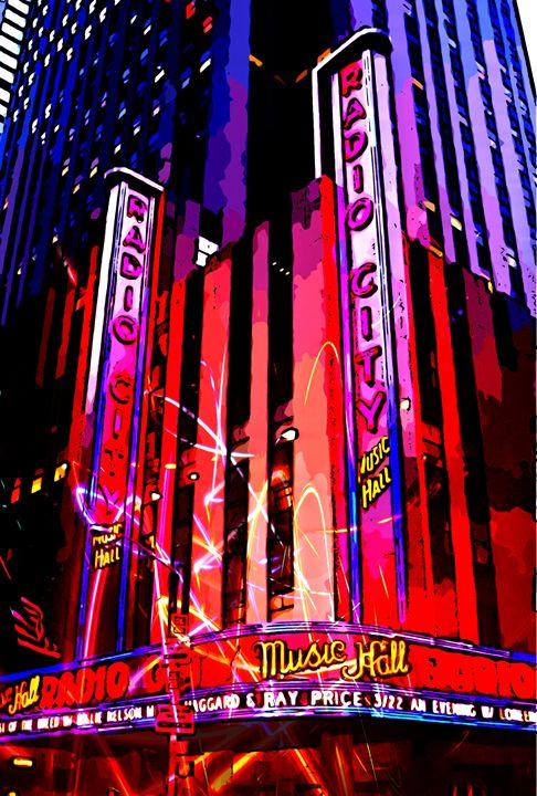 Radio City Music Hall New York - Funky Fine Art