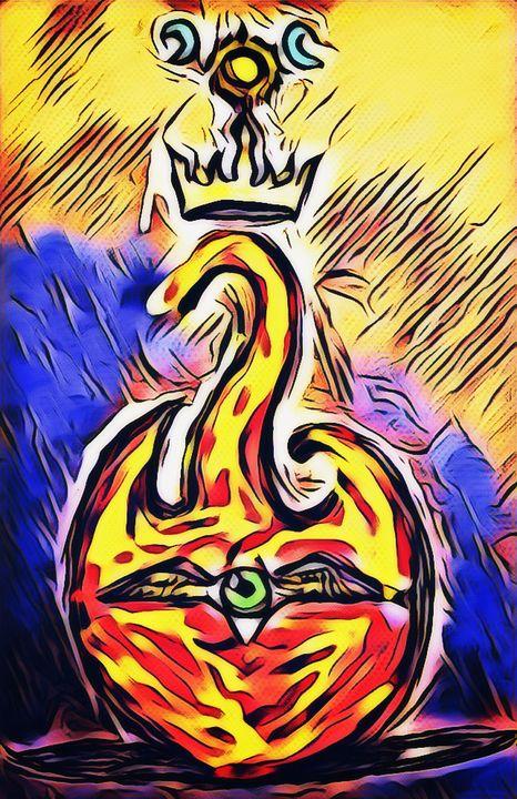'The Watcher of Eternal Flame' - KidAtlas