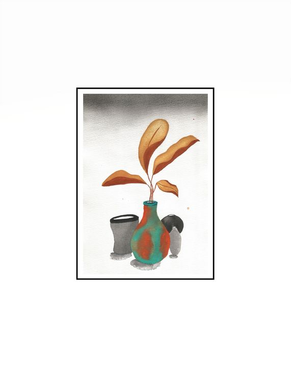 pot and leafs - Mils.Art