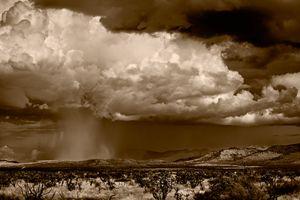 Cloudburst East of Alpine