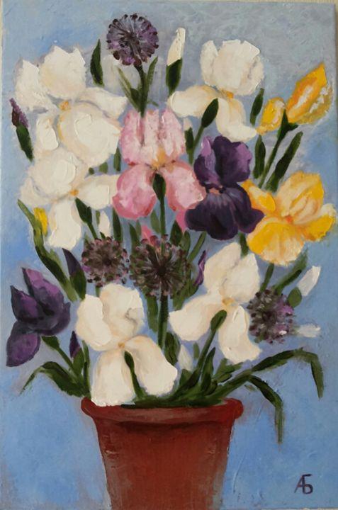 Iris 40x60 cm - Anna Borodina