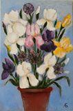 Iris 40x60 cm Original oil