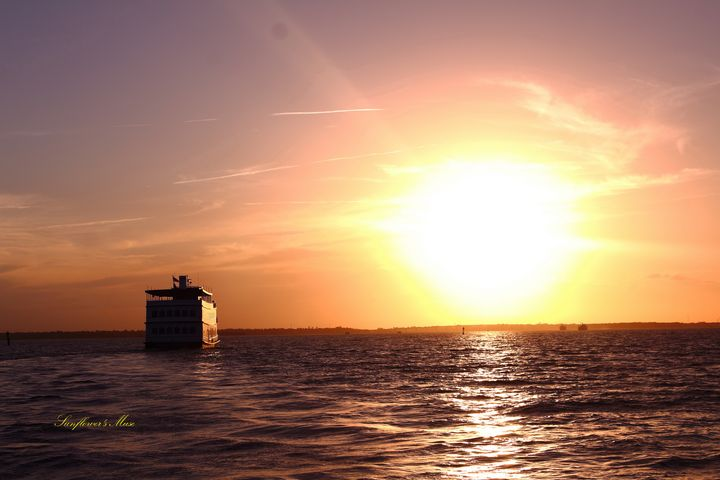 Boat Sunset - Sunflower's Muse