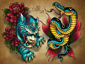 Tiger and Snake