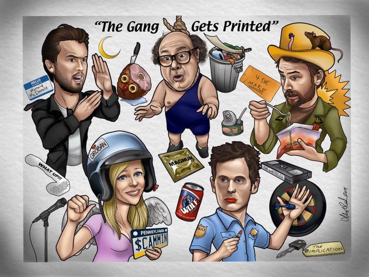 The Gang Gets Printed - Alex Reid Art