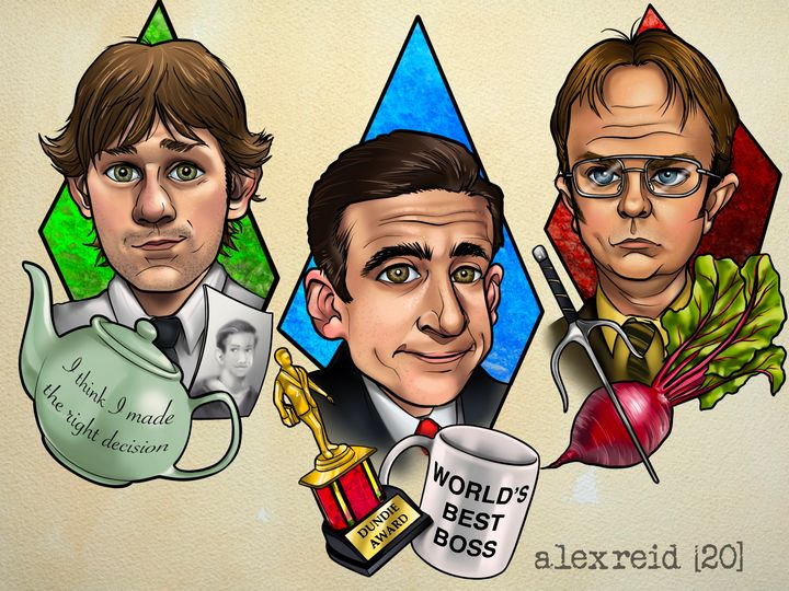 The Office - Alex Reid Art
