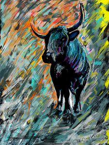 Rocky, Pineywoods Bull Abstract
