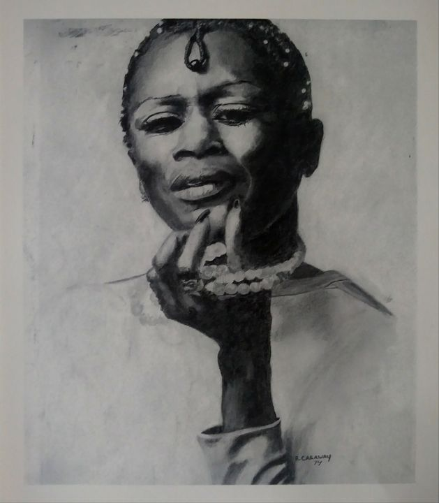 Actress Cicely Tyson - Pencil Art by Ron Caraway
