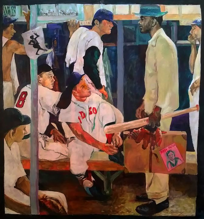 Up from the Negro League - Pencil Art by Ron Caraway