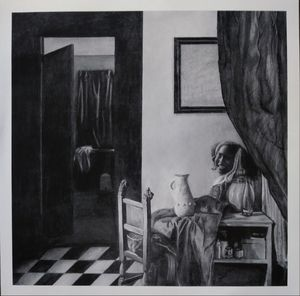 Girl in a room
