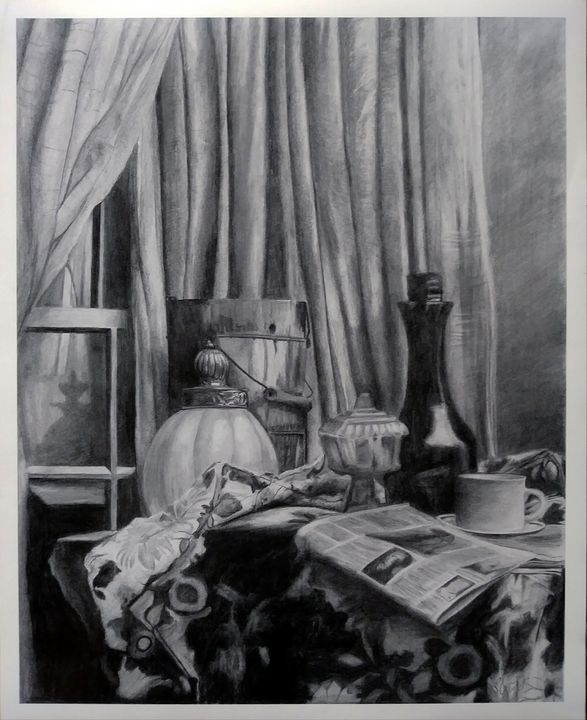 Still life drawing - Pencil Art by Ron Caraway