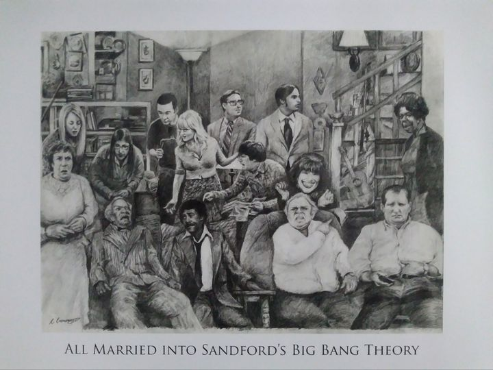 All married into Sanford's Big Bang - Pencil Art by Ron Caraway