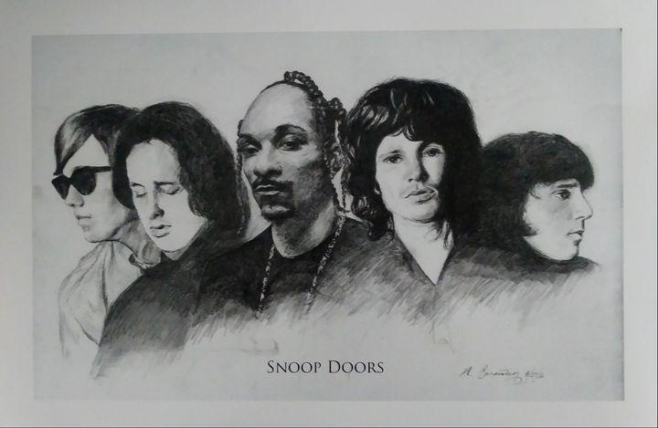 Snoop Doors - Pencil Art by Ron Caraway