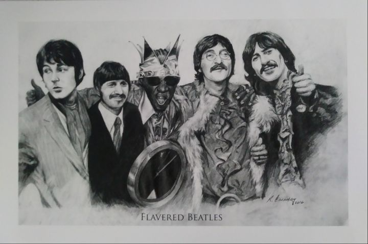 Flavored Beatles - Pencil Art by Ron Caraway