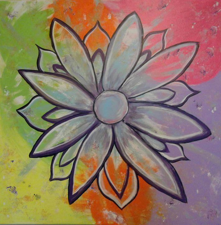 Rainbow flower - LSC art 7