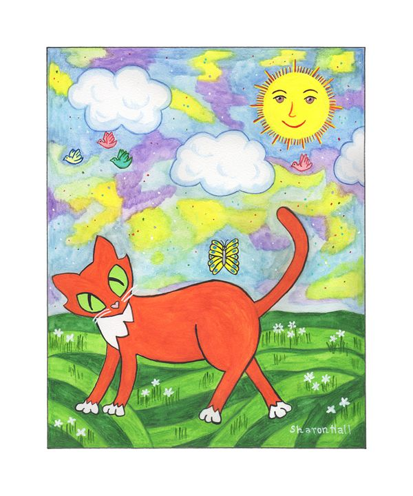 Zac the Cat Seizes the Day - Sharon Hall