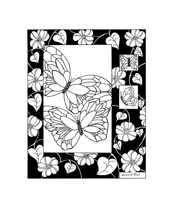 Butterflies & Flowers - Sharon Hall