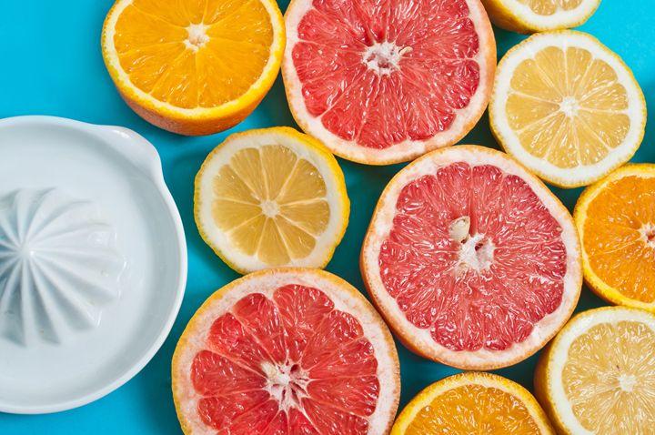 Citrus fruits on the blue - Anna Alferova Photography