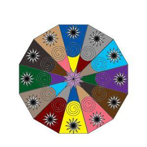 Mutlicolor Mandala
