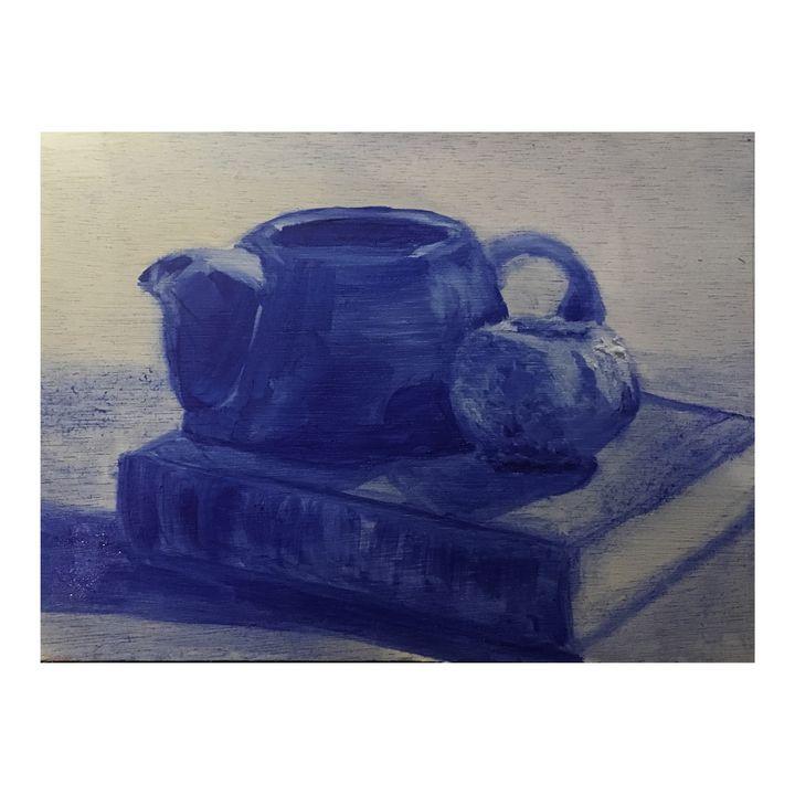 Untitled Blue Still Life no. 2 - Artwork for Sale