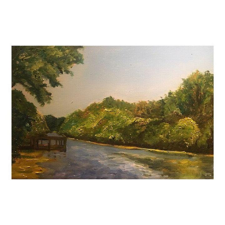 Canal Landscape - Artwork for Sale