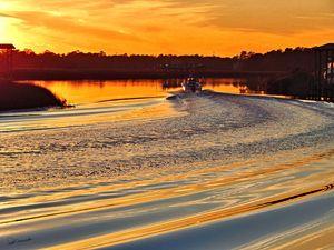 Bayou Boat Sunset 2