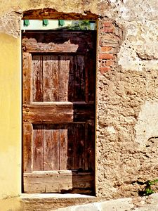 Old Door with Transom