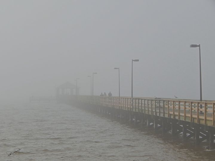 Pier in the Gulf Mist - Shadow and Form