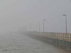 Pier in the Gulf Mist