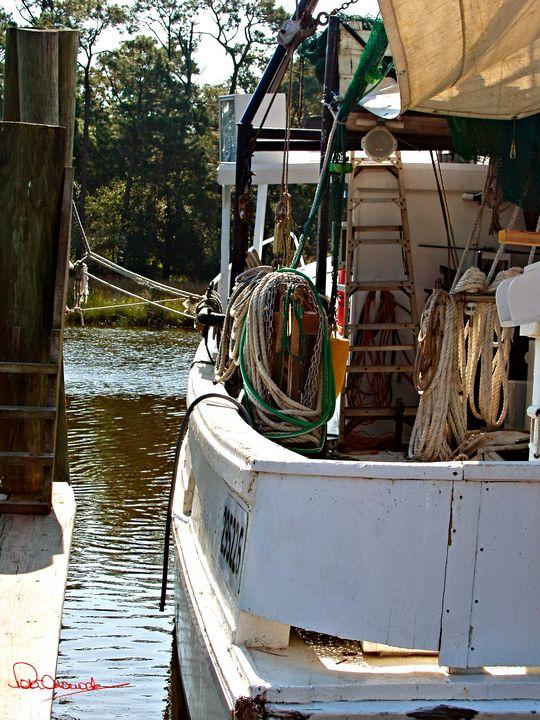 Shrimp Boat at Harbor - Shadow and Form