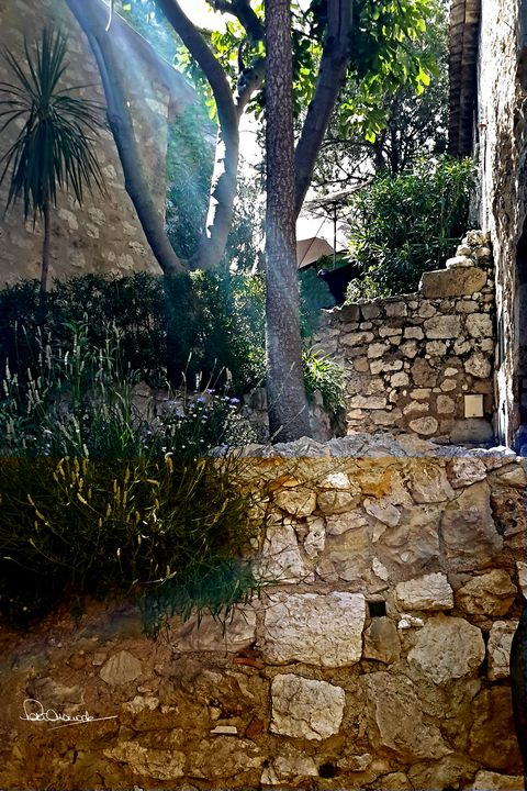 Eze Sunny Path - Shadow and Form