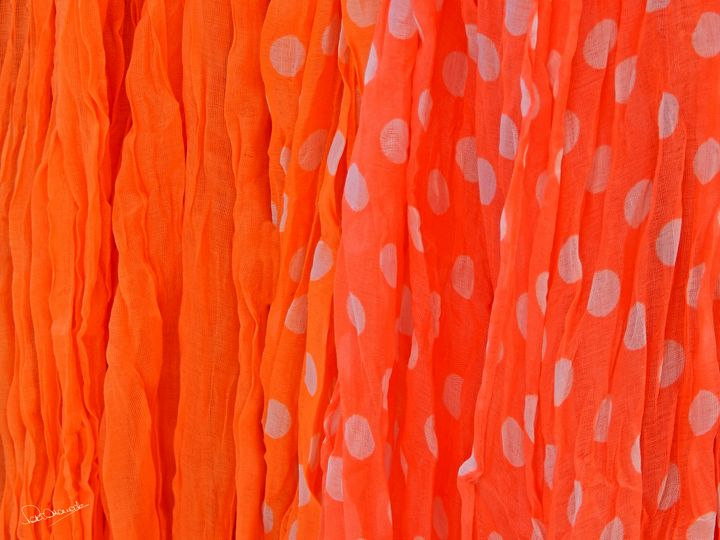 Orange Scarves - Shadow and Form