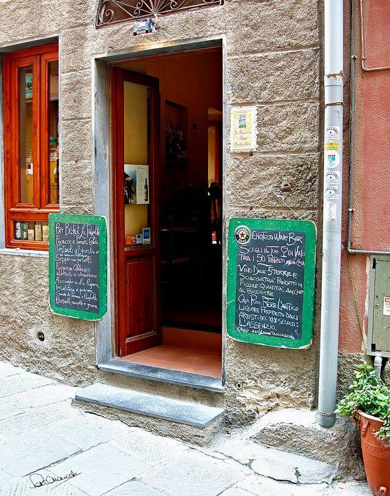 Portovenere Bar Entrance - Shadow and Form