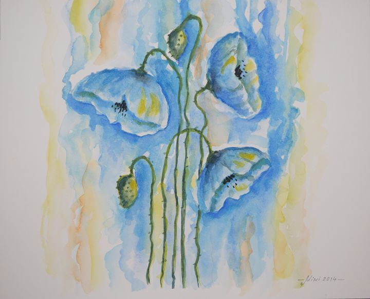 Flowers blue - Mimi's Gallery