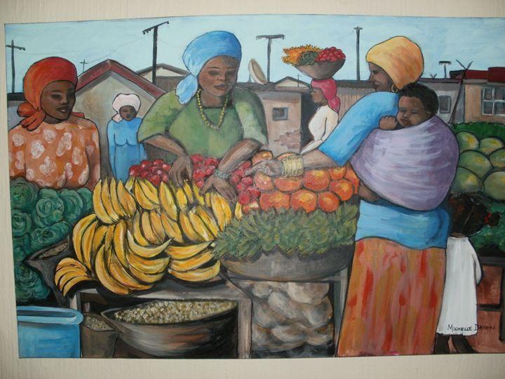 Nairobi market - Michelle Daykin Art